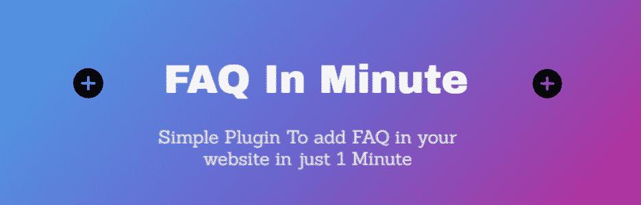 FAQ in minute WordPress