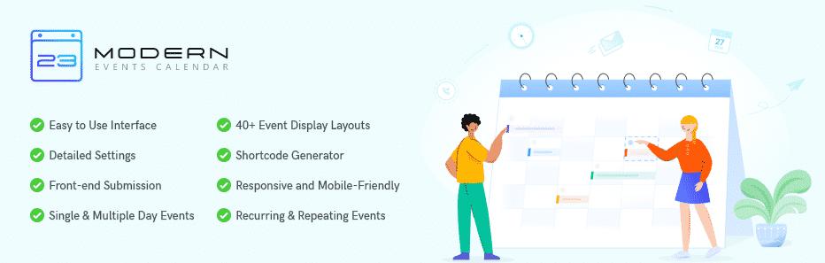 Modern Events Calendar WordPress