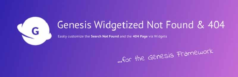 Genesis Widgetized Not Found 404 wordpress