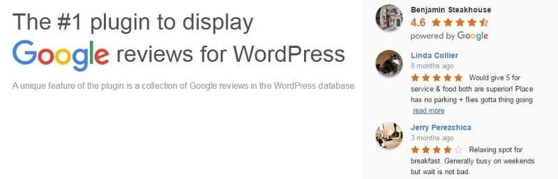 Google Reviews Widget wordpress