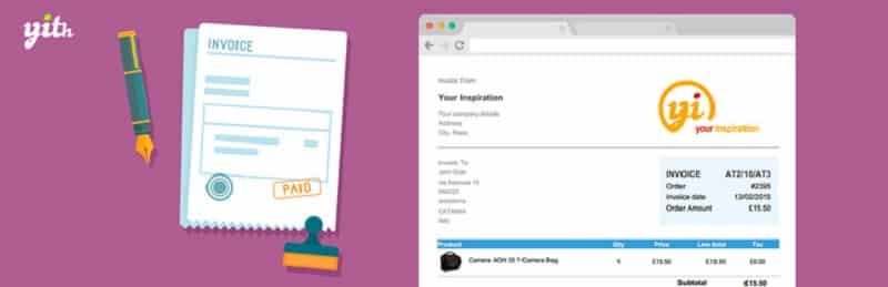 YITH WooCommerce PDF Invoice and Shipping List wordpress